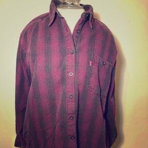 🤠 Vintage Levi's Western shirt button down L wine